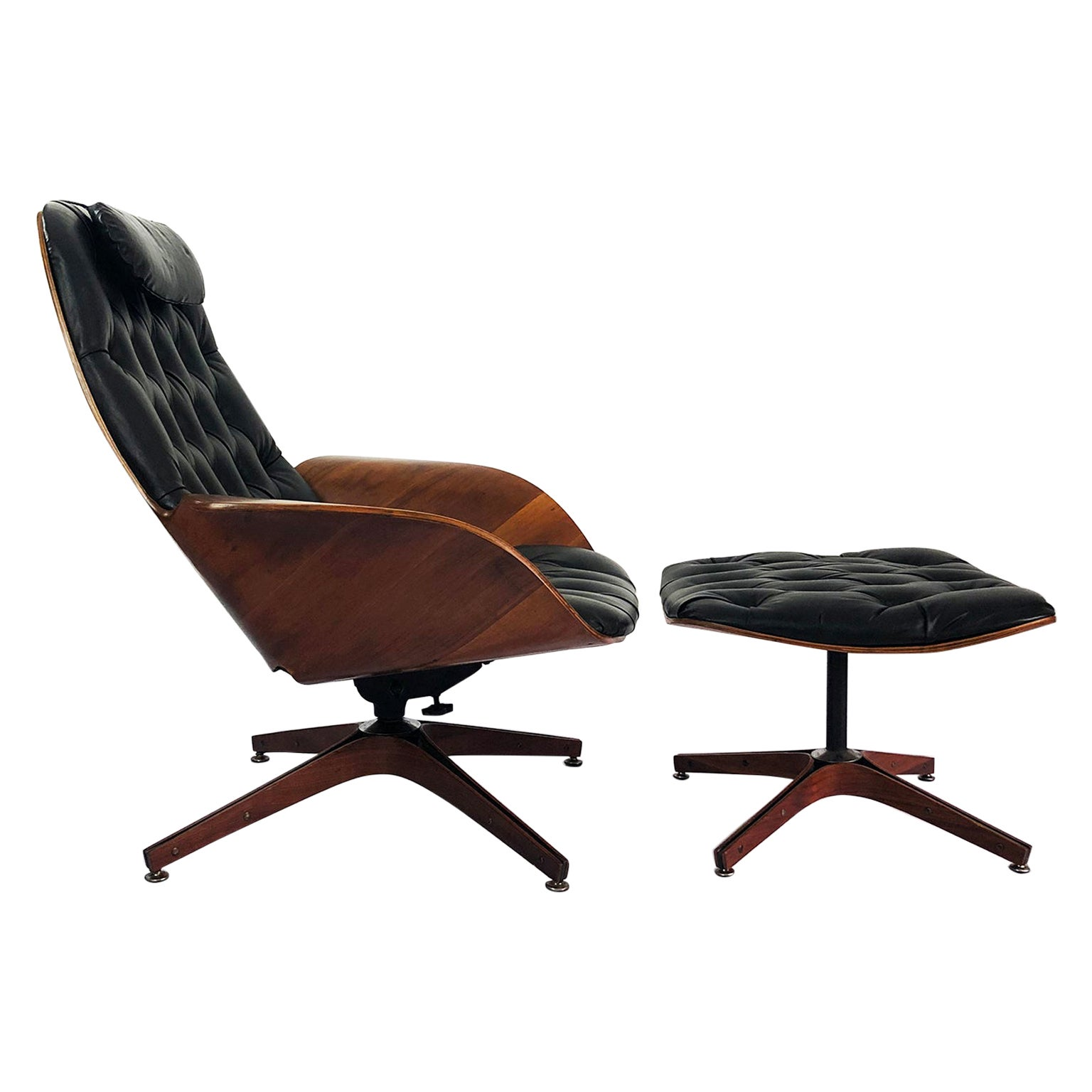 George Mulhauser Lounger Chair and Ottoman for Plycraft