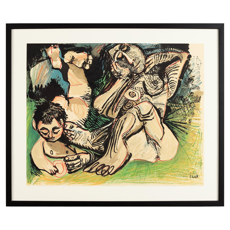 Pablo Picasso 'after' from Au Baiser d'Avignon Nr. 2