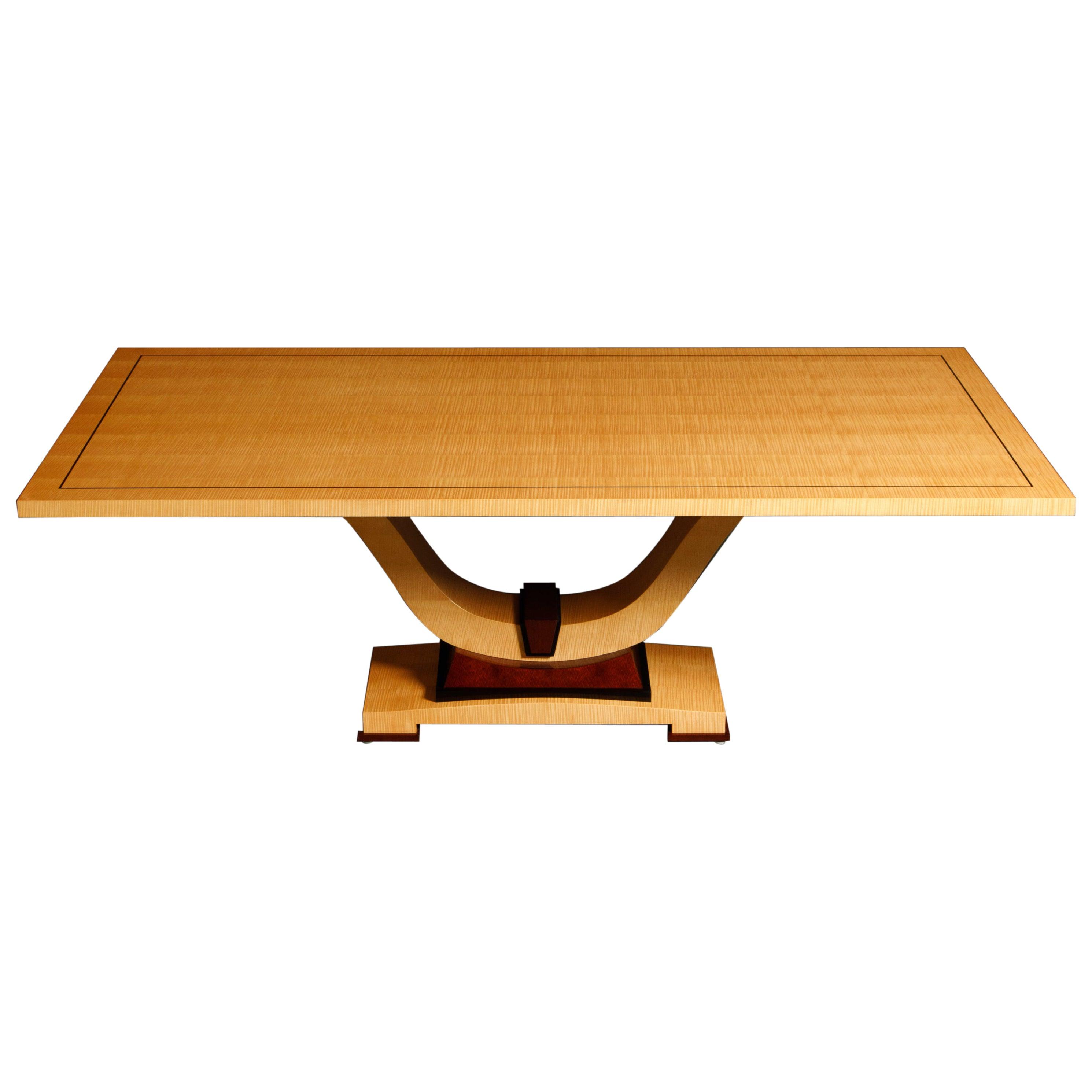 Dakota Jackson Exotic Wood Art Deco Styled Dining Table