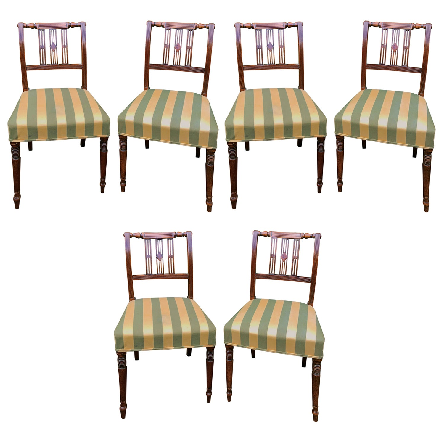 Set of Six Early 19th Century Regency Mahogany Dining Chairs