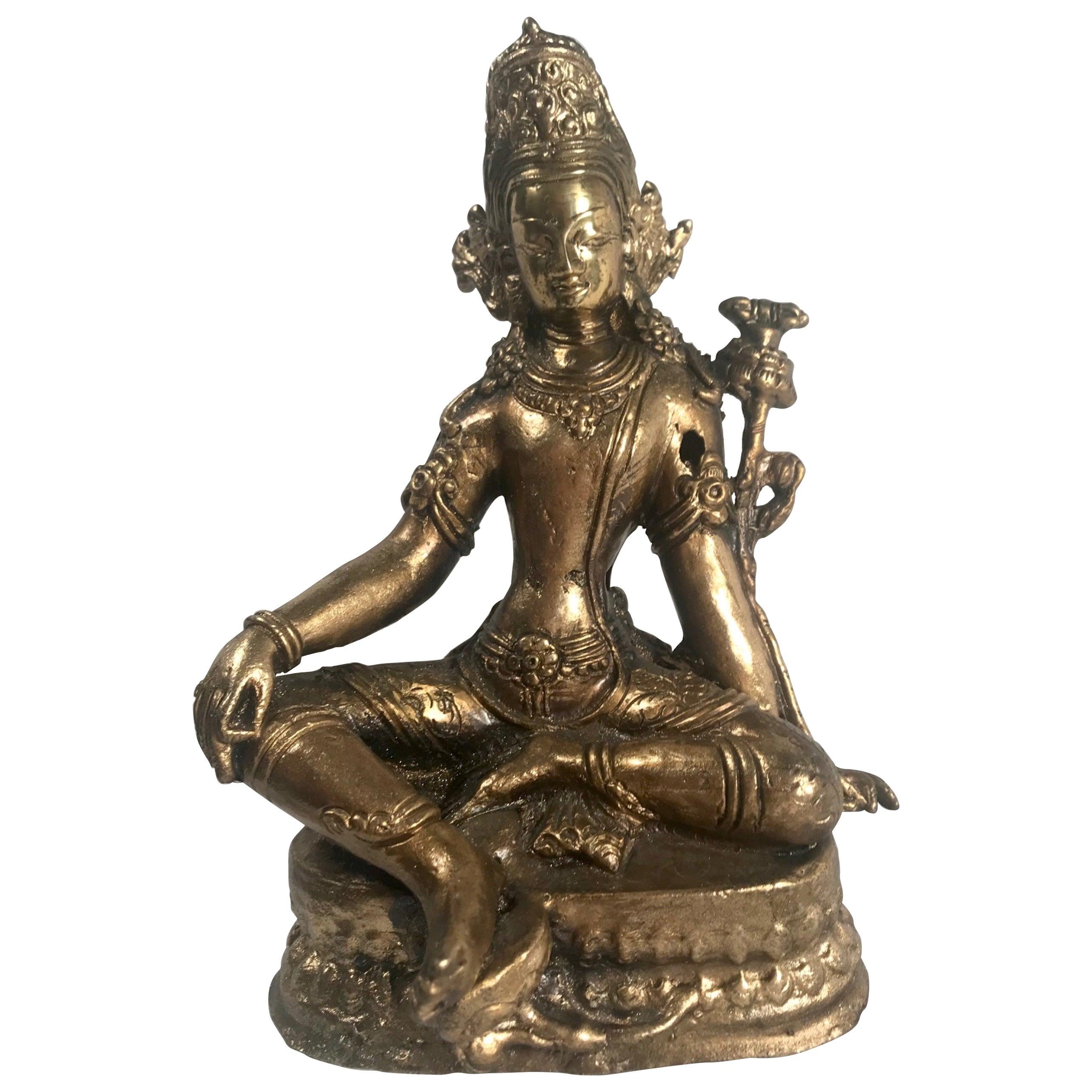 19th Century Gold Gilded Bronze Buddha