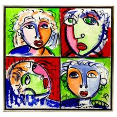 Peter Keil, a Masterwork, Quadriptych Portraits