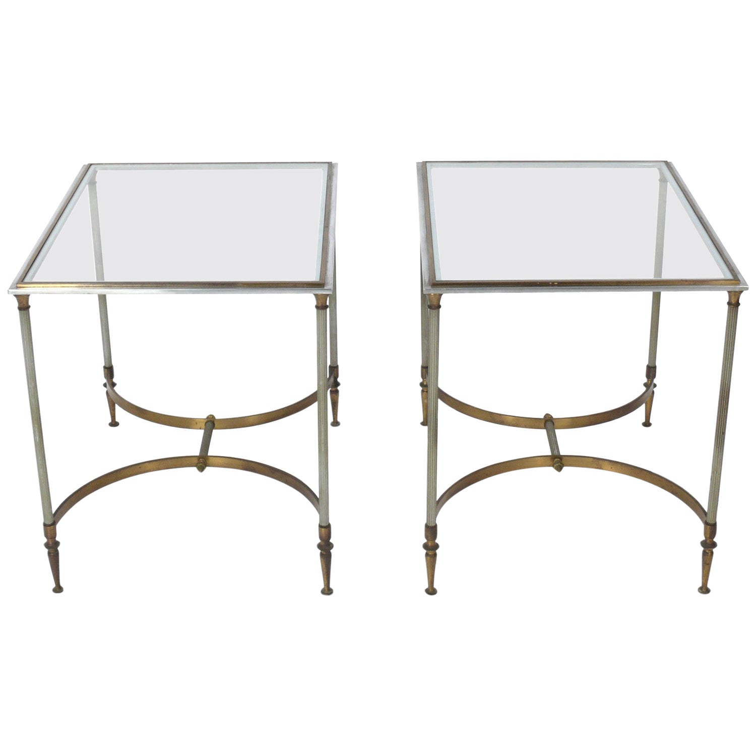 Pair of Maison Jansen Style End Tables or Nightstands