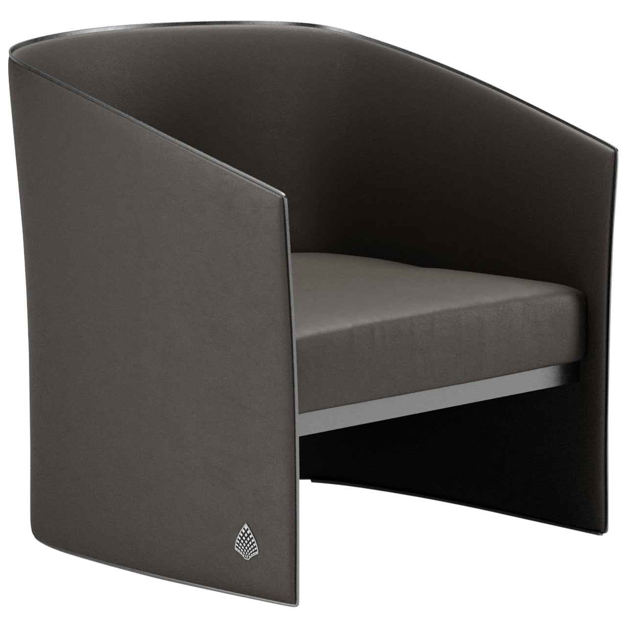 Lawrence Contemporary Armchair by Fabio Arcaini Leather Seating Hardshell