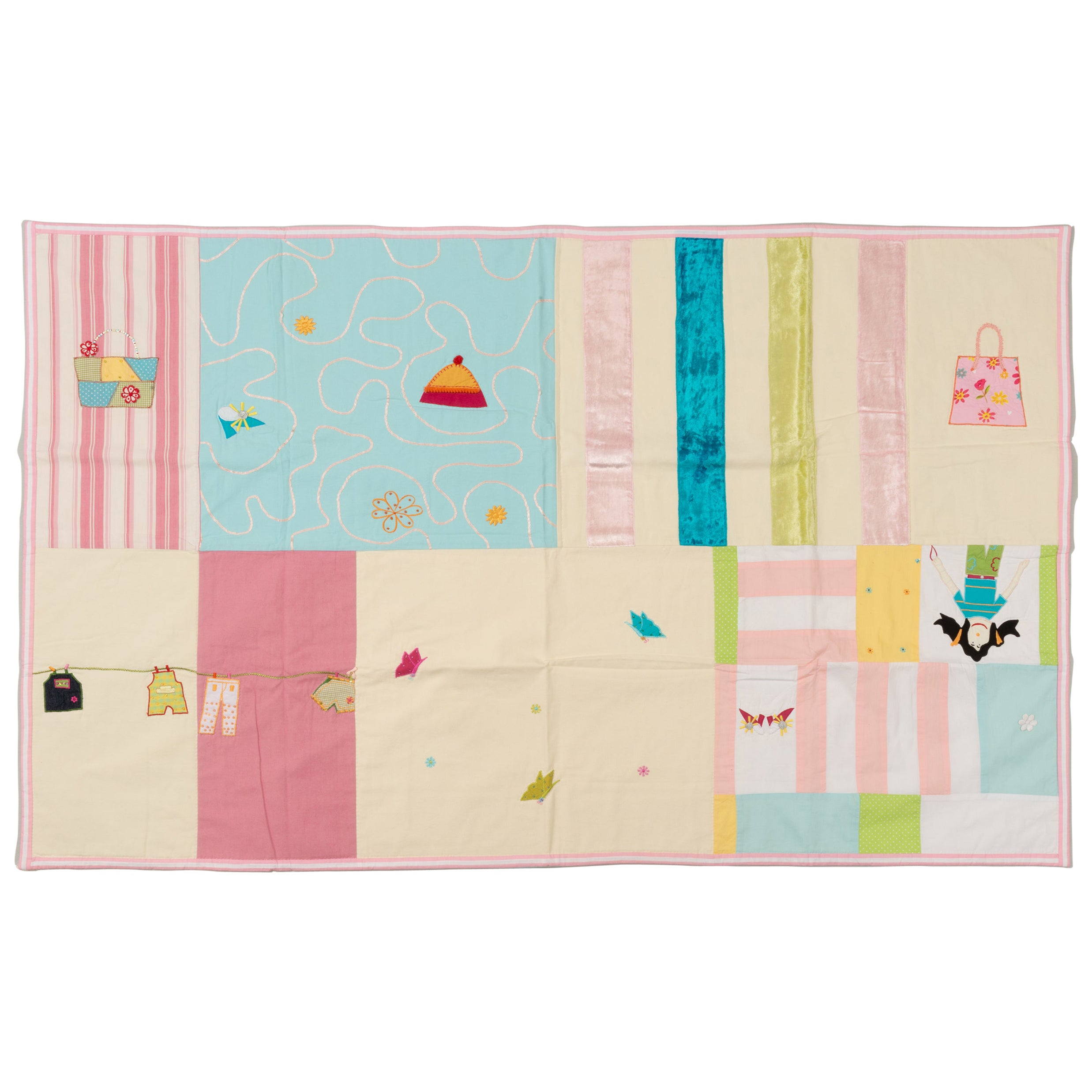 Quilt Patchwork or Padded Blanket for Baby Girl