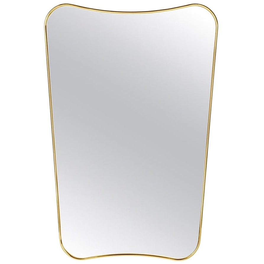 Gio Ponti F.A. 33 Medium Mirror in Brass