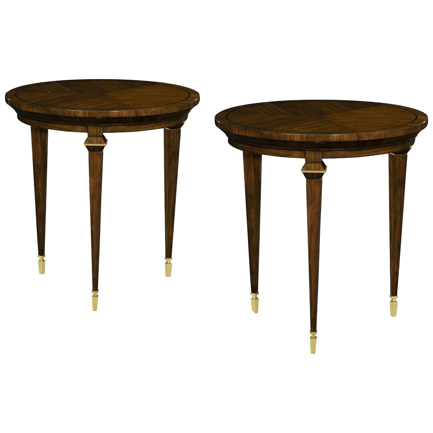 Pair of Art Deco Style Round Side Tables