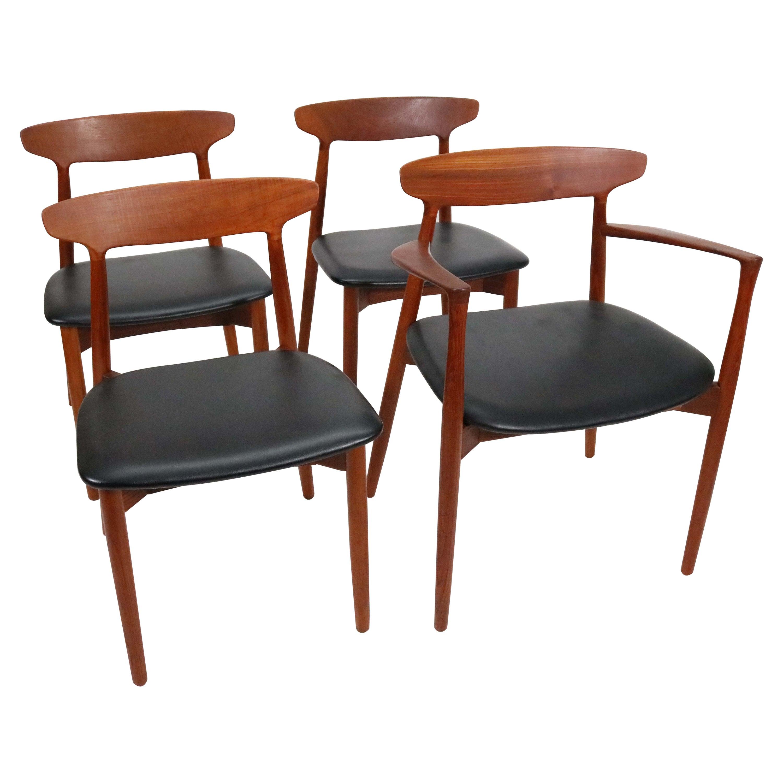 Four Model 59 Dining Chairs by Harry Østergaard for Randers Mobelfabrik