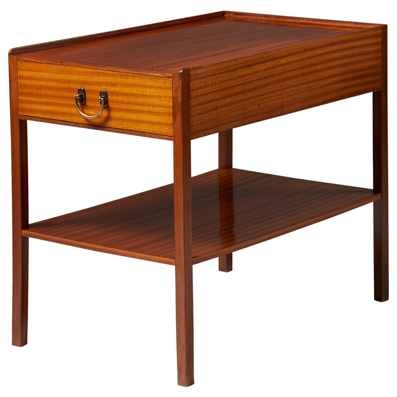 Bedside Table Model 914 Designed by Josef Frank for Svenskt Tenn, Sweden, 1950s