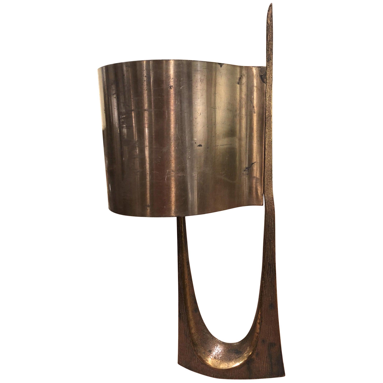 Maison Charles Stamped Vintage Gold Bronze Lamp