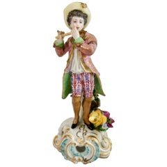 Chelsea Porcelain Figure of Flute Player, Rococo, 1759-1769