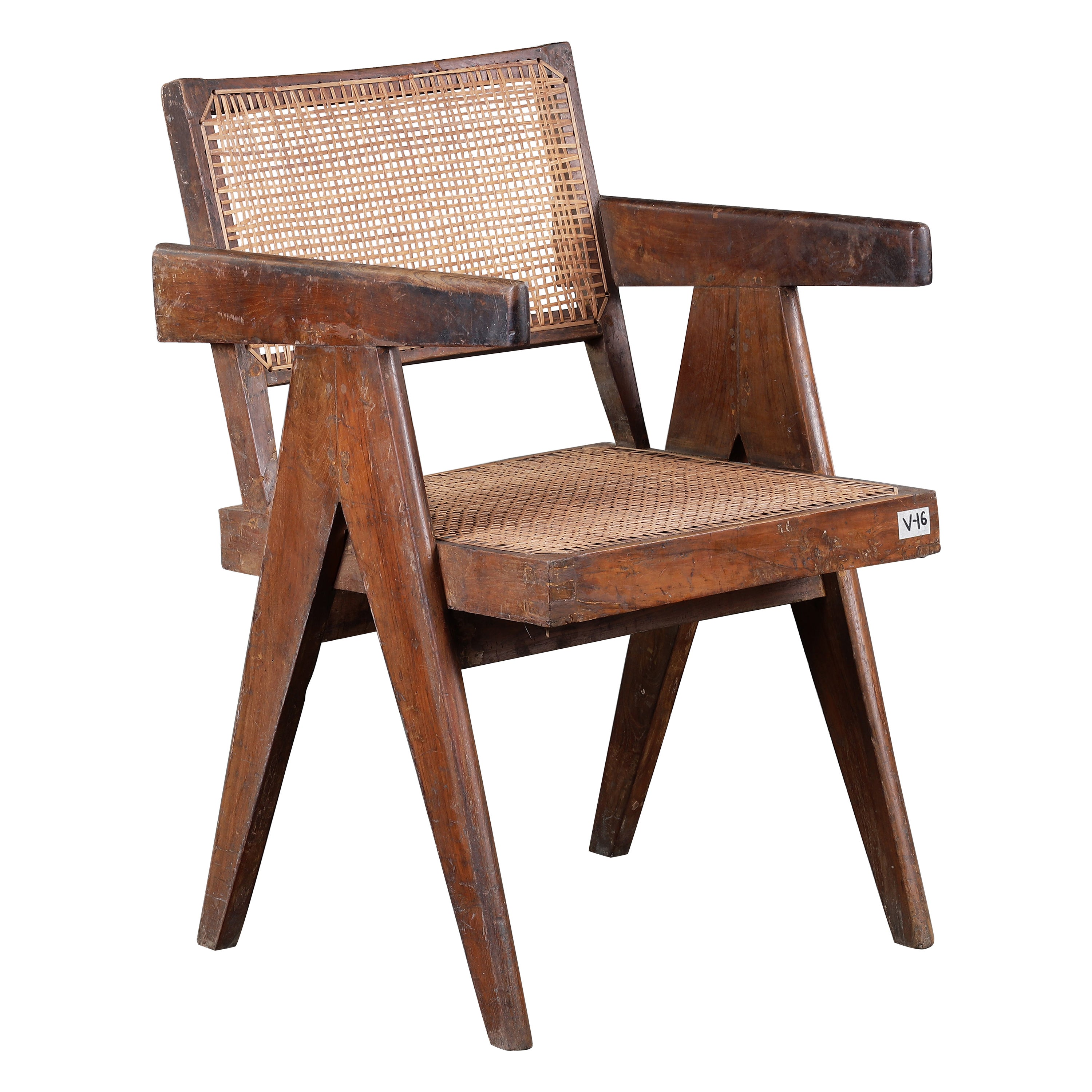 Pierre Jeanneret Office Cane Chair | Authentic Mid-Century Modern PJ-SI-28-B