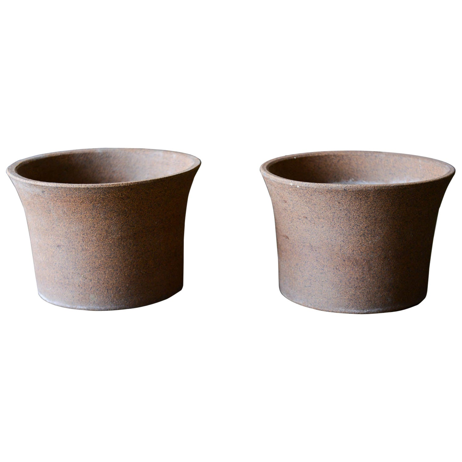Marilyn Kay Austin for Architectural Pottery Unglazed Vessels, Pair, circa 1970