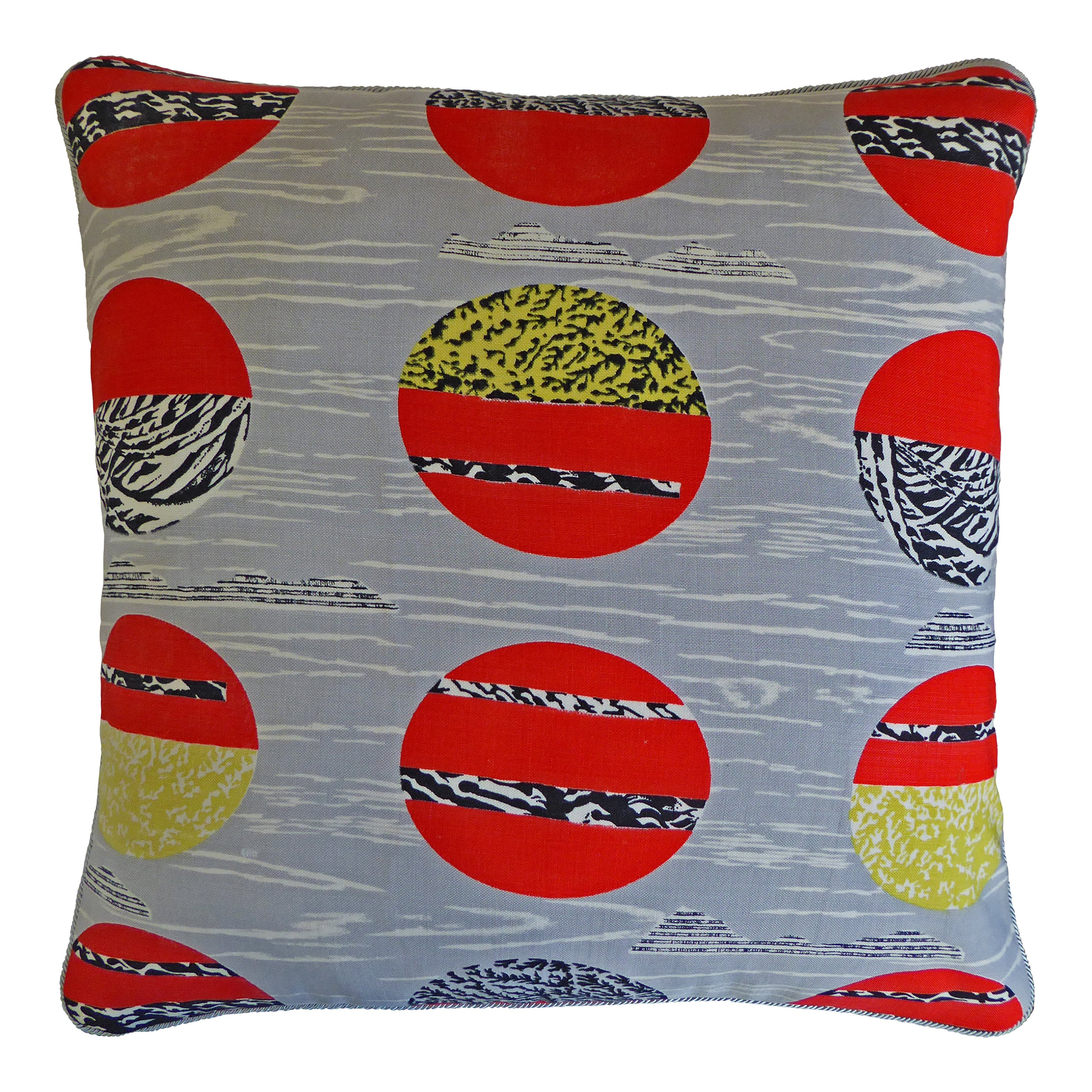 Vintage Cushions, Bespoke-Made Luxury Pillow, 'Globe', Made in UK