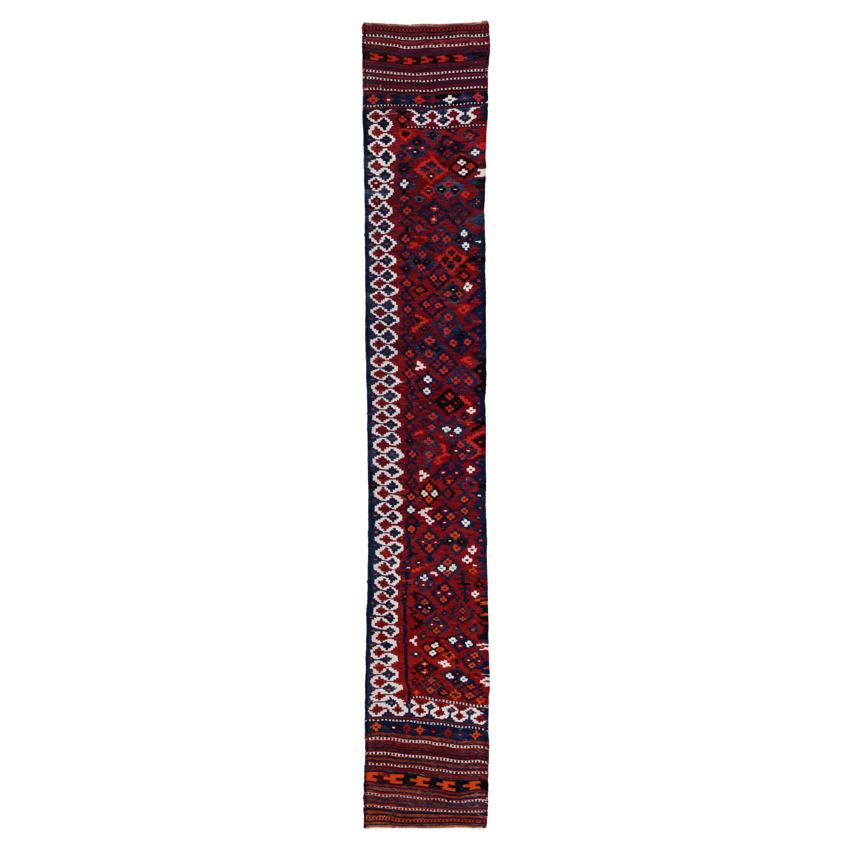 Antique Persian Runner Rug Kilim Design