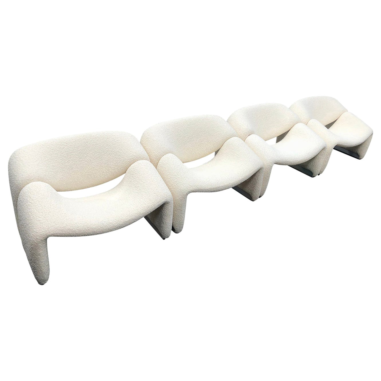 Pierre Paulin f598 'Groovy' Chair by Pierre Paulin for Artifort Netherlands 1972