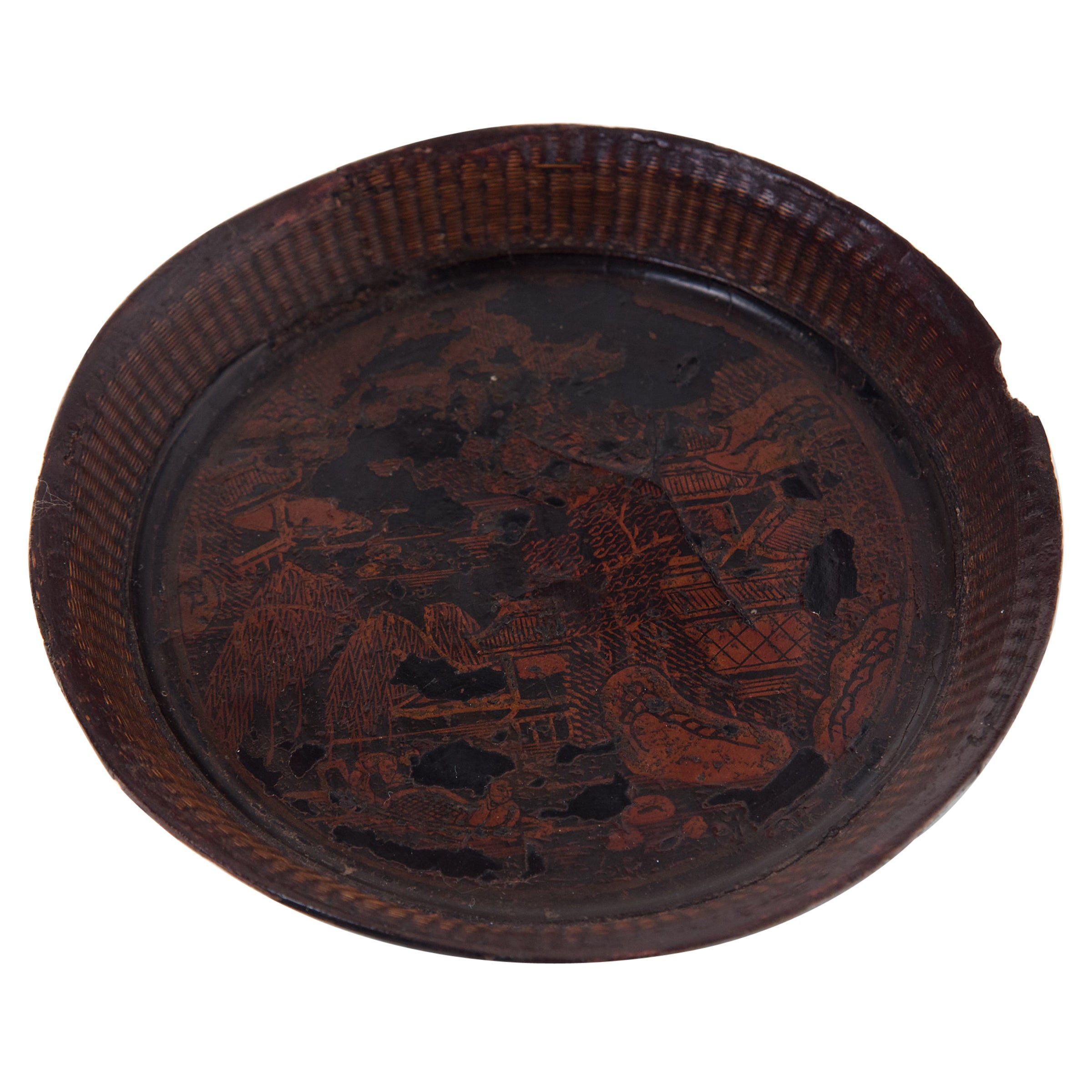Chinese Petite Gilt Offering Plate, circa 1850
