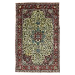 Antique Persian Area Rug Tabriz Design