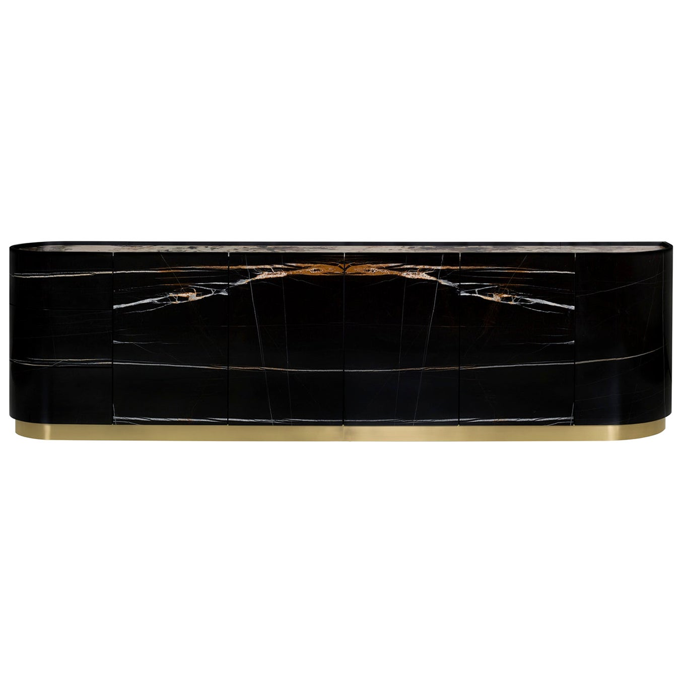 Olival Sideboard Sahara Noir Patagonia Granite Oxidised Brass Black Lacquered