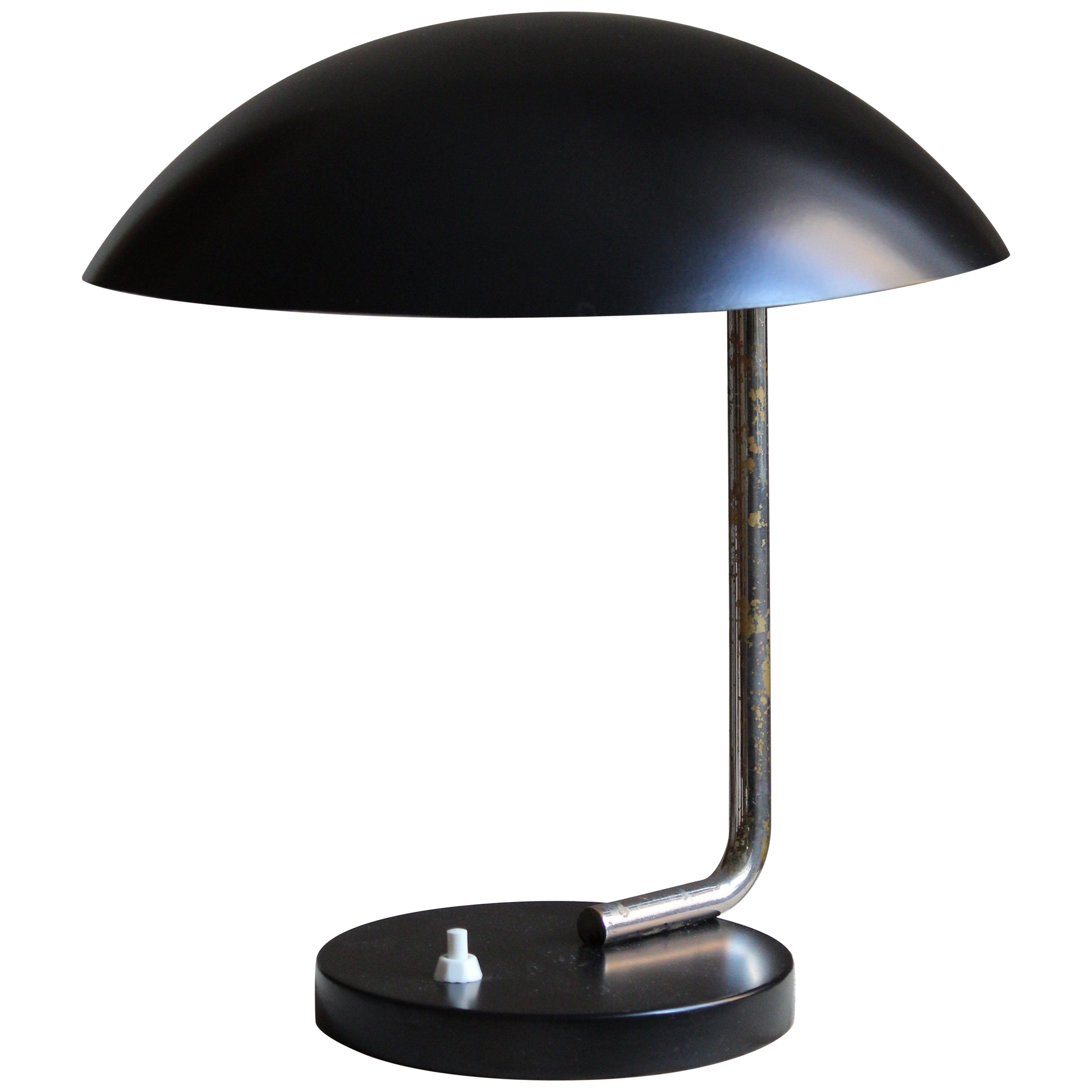 Paavo Tynell, Rare Desk Lamp, Steel, Lacquered metal, Taito OY, Finland, 1930s