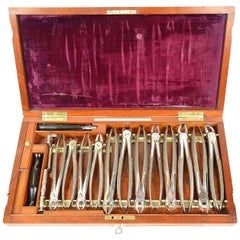 Dentist Set Signed Evans & Wormull 31 Stamford London