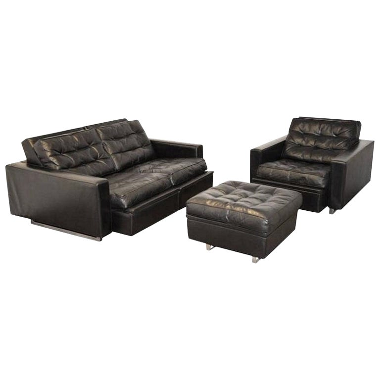 "Vintage de Sede DS 3A ""New Yorker"" Two-Seat Reclining Sofa Set, 1970s"