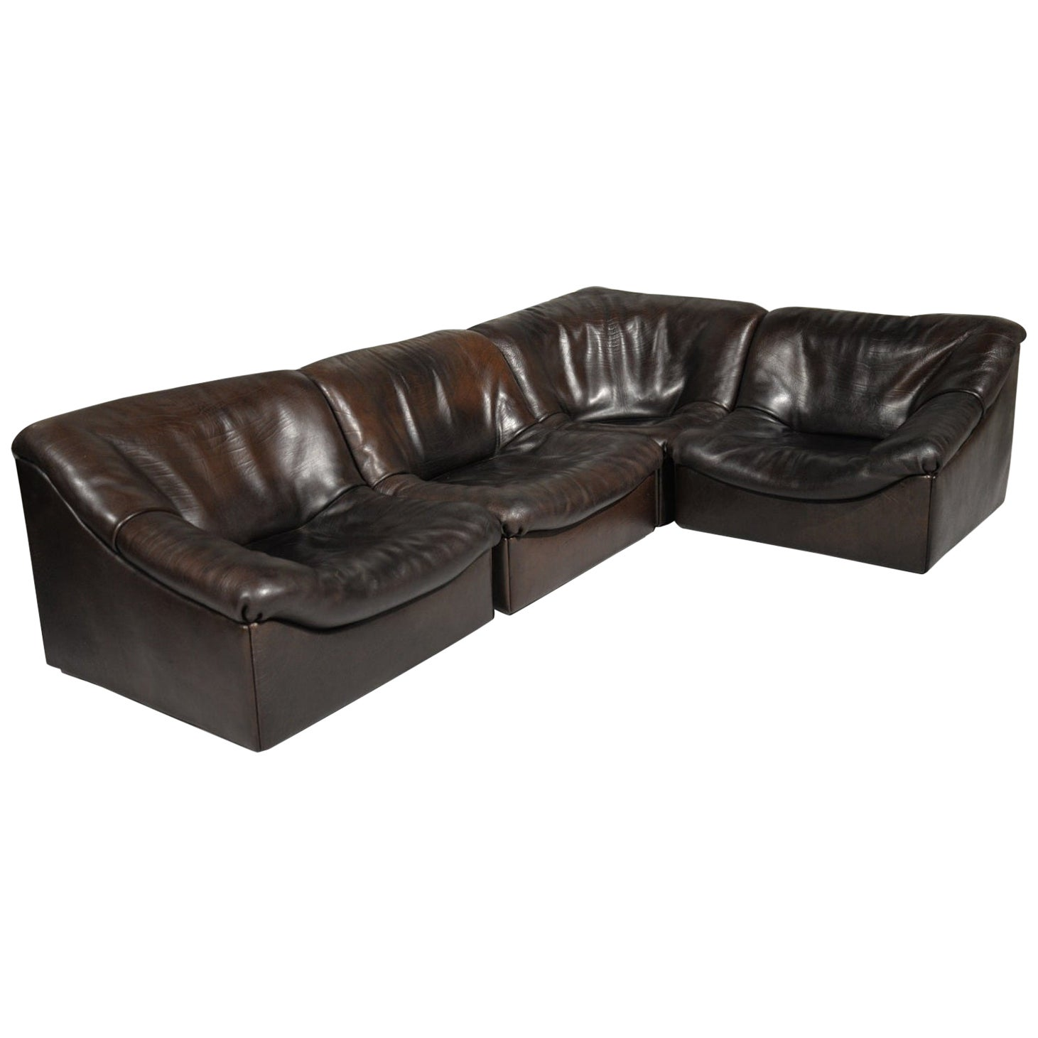 "Modular ""DS46"" Buffalo Leather Sofa by De Sede, Switzerland, 1970s"