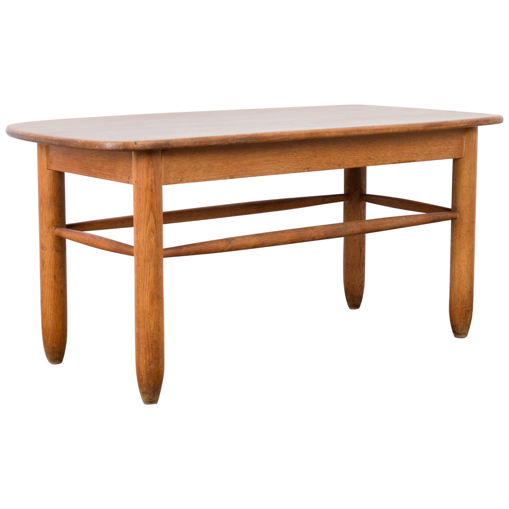 1960s French Oak Coffee Table
