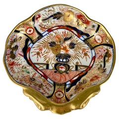 Antique Hand-Painted Imari Porcelain Admiral Nelson Pattern Dish England C-1810