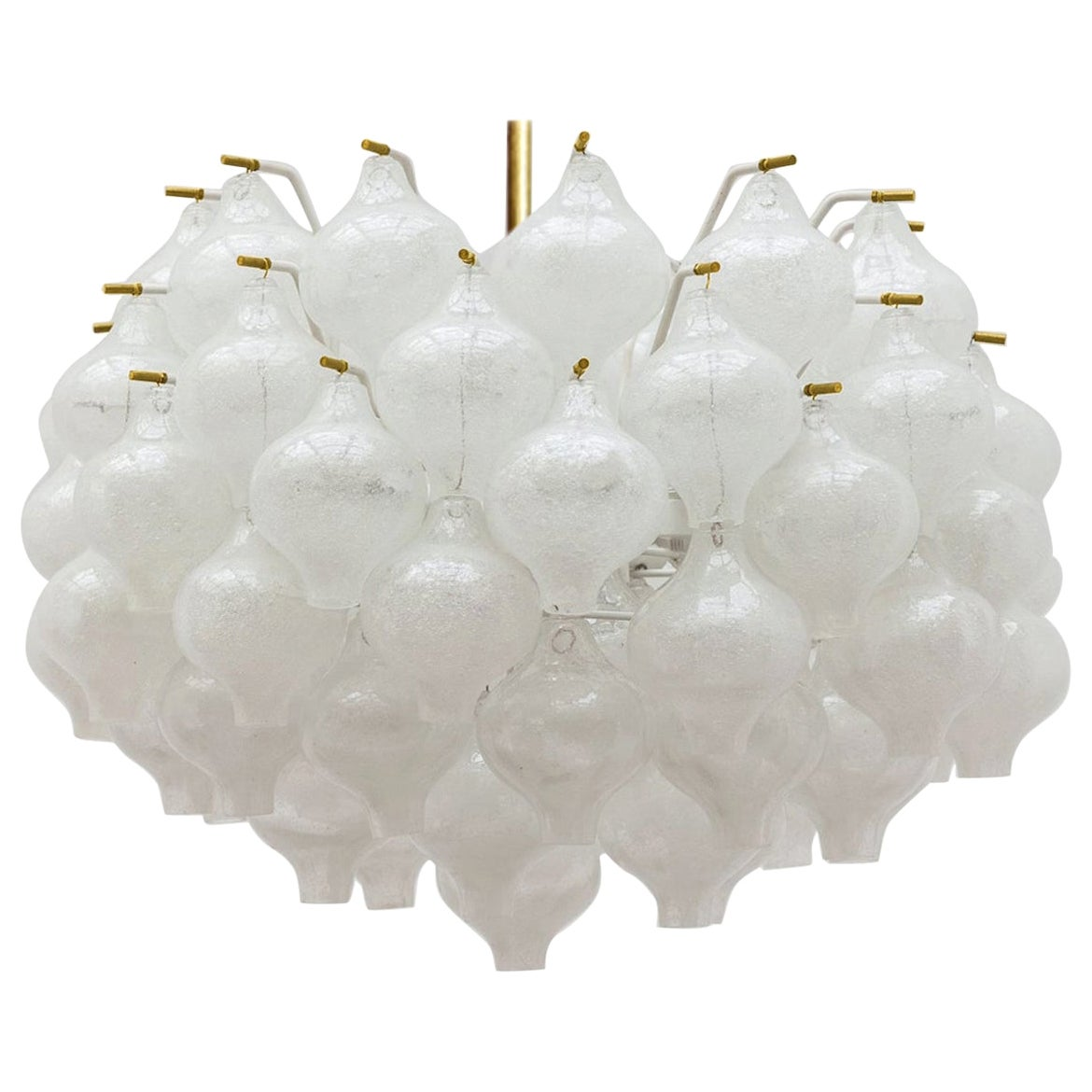 Exceptional Large Kalmar 'Tulipan' Light Fixtures, 1960s