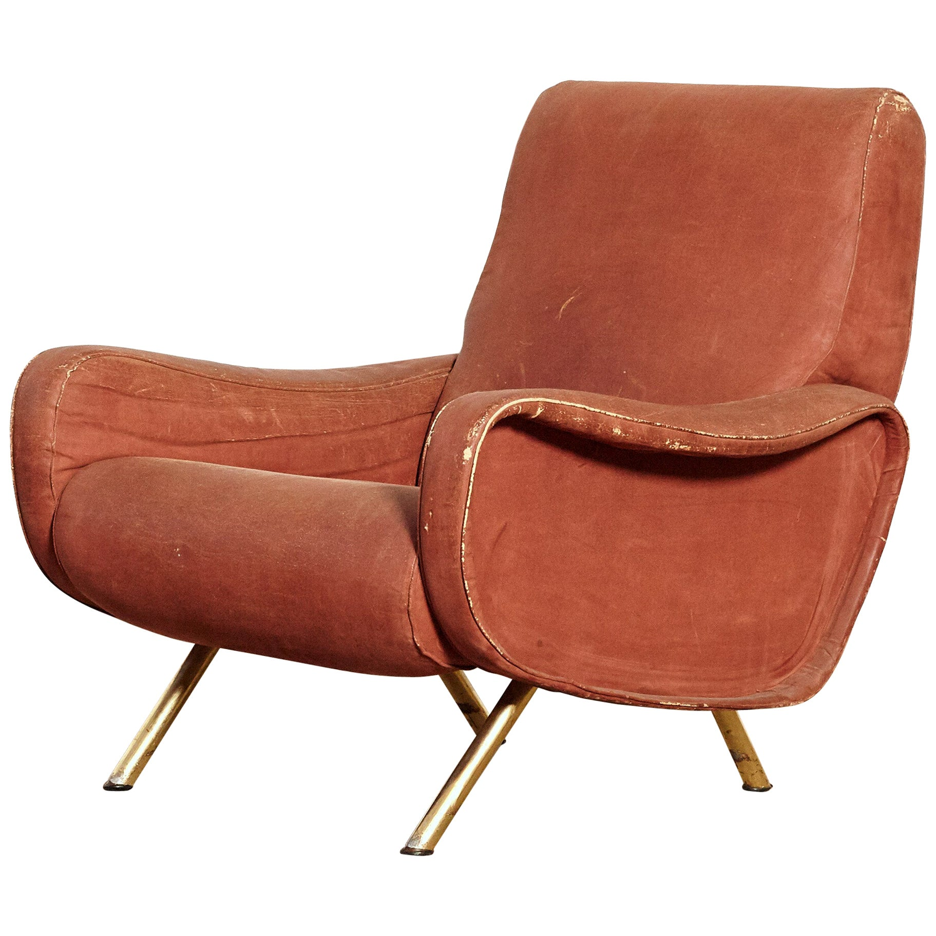 Authentic Marco Zanuso Lady Chair, Arflex, Italy, 1960s for Re-Upholstery