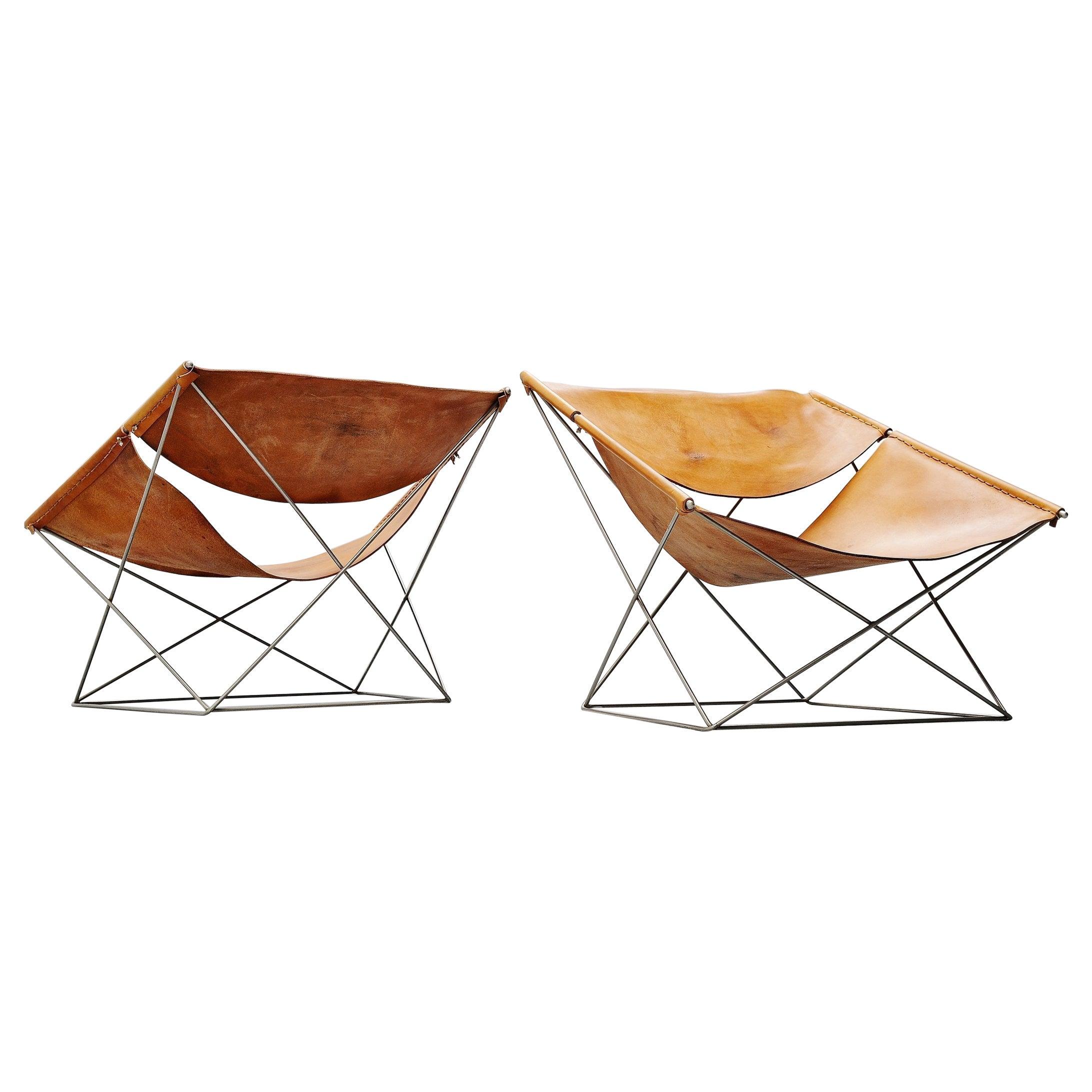 Pierre Paulin F675 Butterfly Chair Pair Artifort, 1963