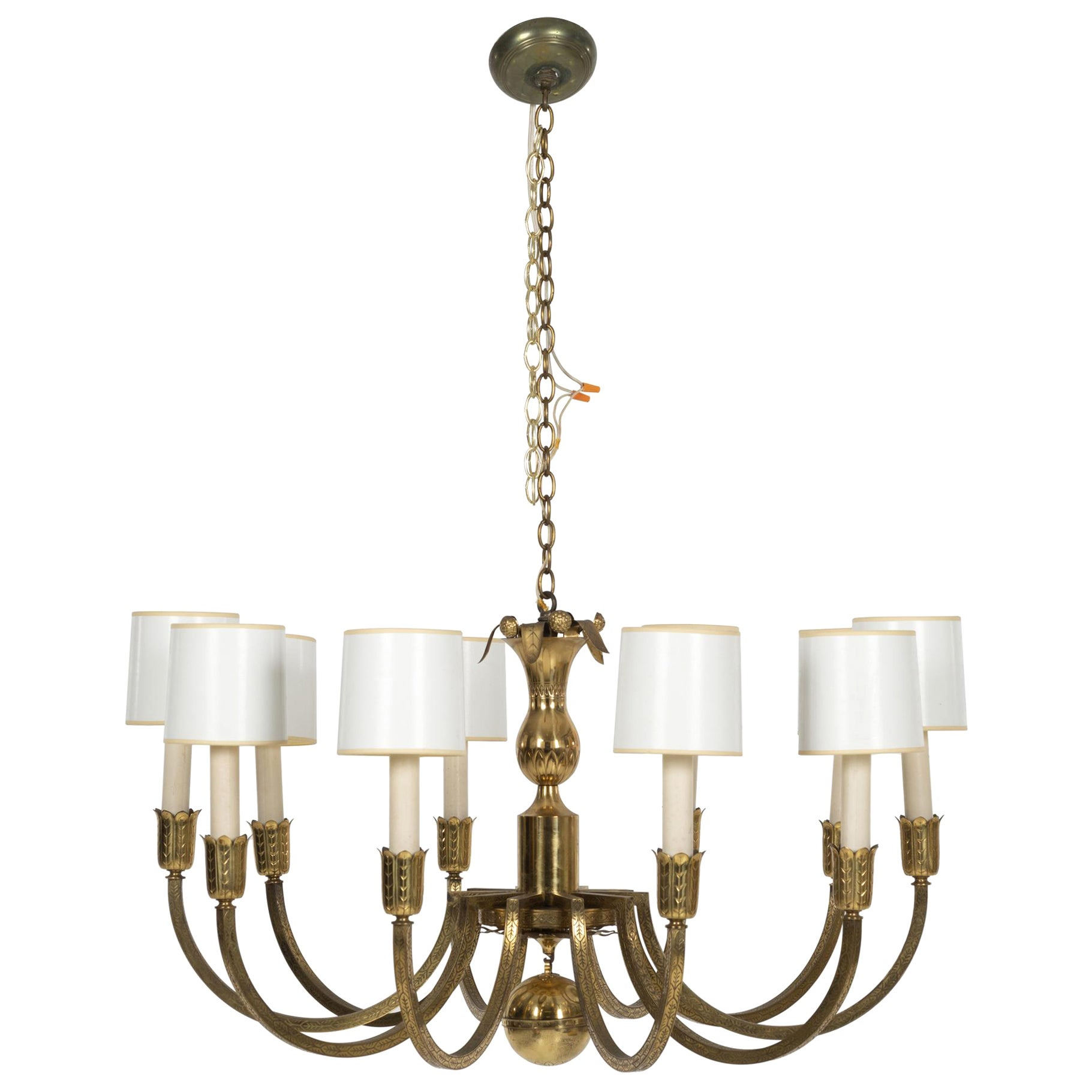 Tommi Parzinger Custom 10-Arm Chandelier Parzinger Originals
