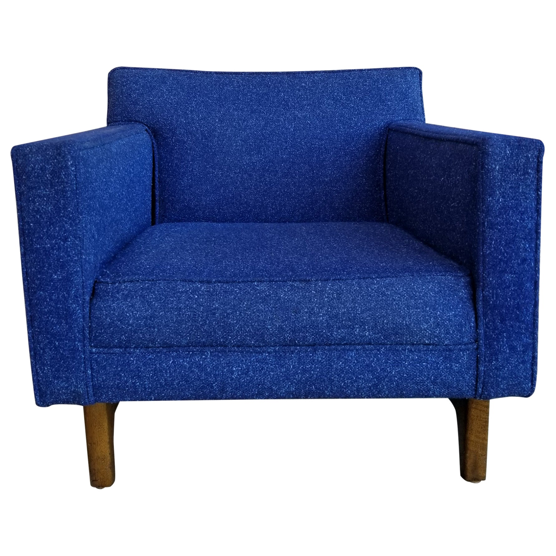 Mid-Century Electric Blue Lounge Chair