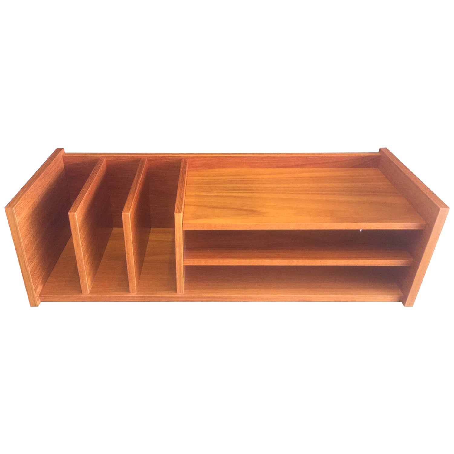 Danish Modern Desk Organizer or Letter Tray in Teak
