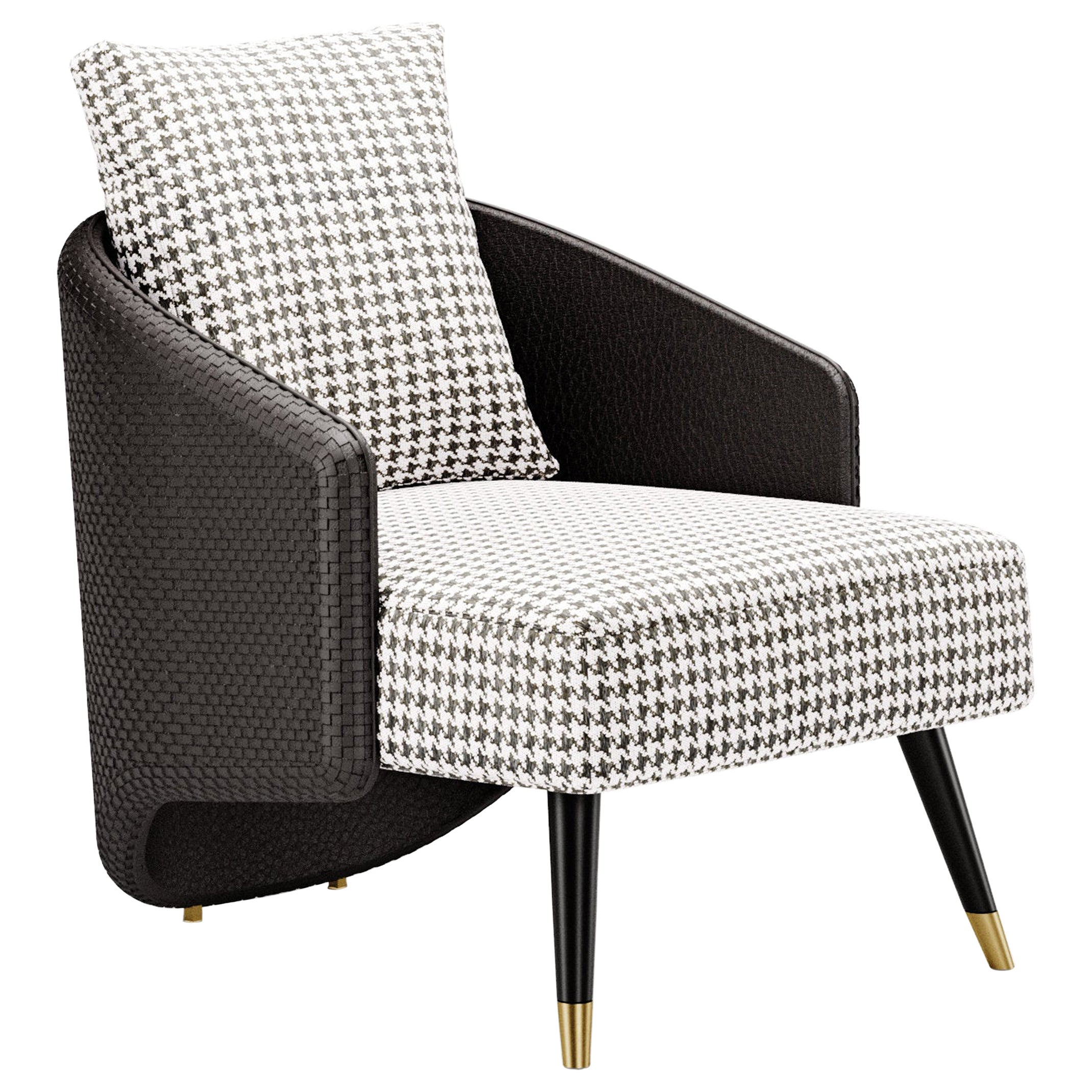 Contemporary Chair by Fabio Arcaini Settee Fabric Leather Nabuk