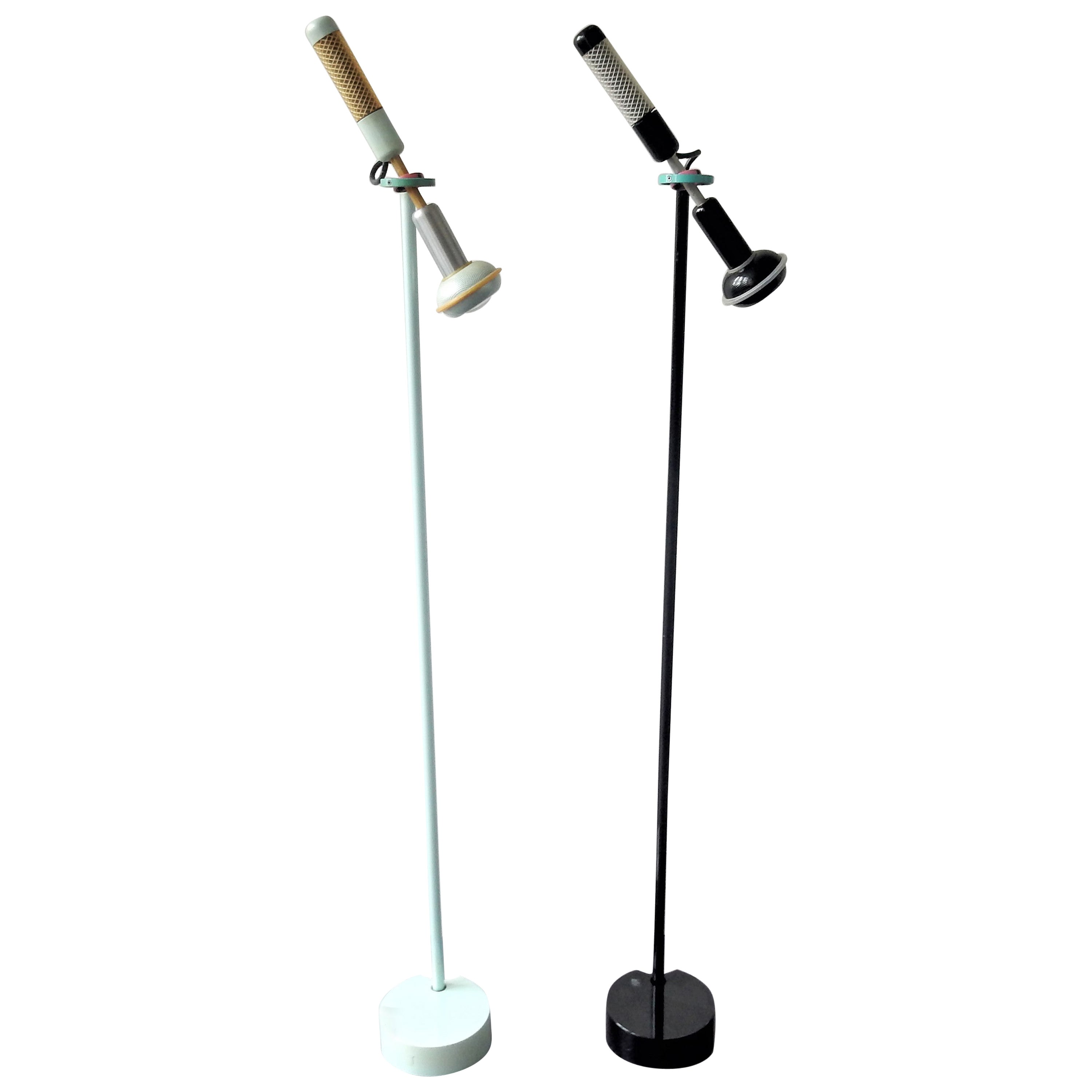 Black Grip Floor Lamp by Achille Castiglioni for Flos, Italy, 1985