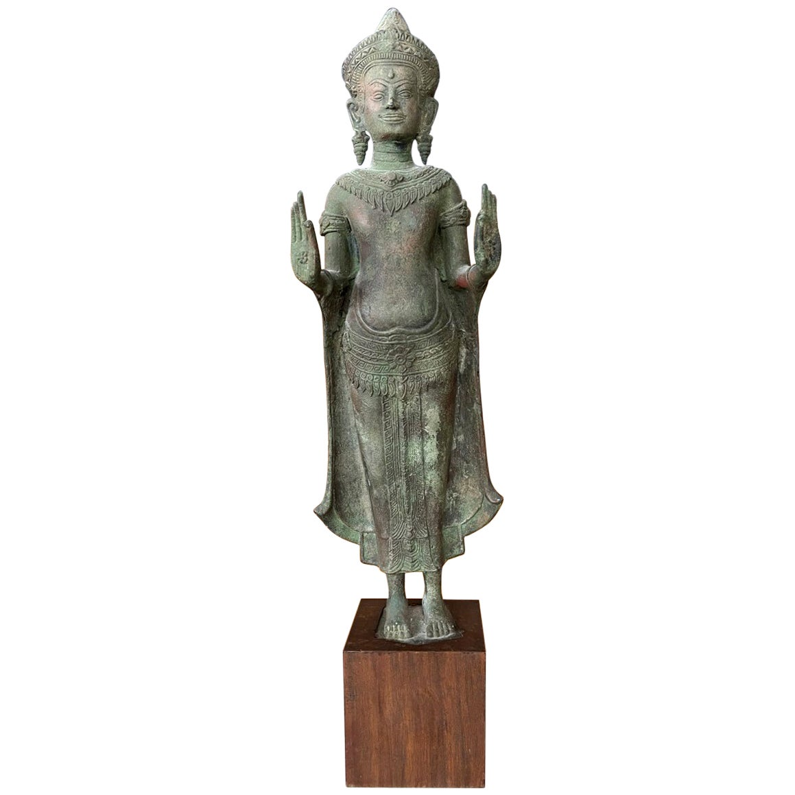 Antique Lopburi Buddha Statue from Thailand
