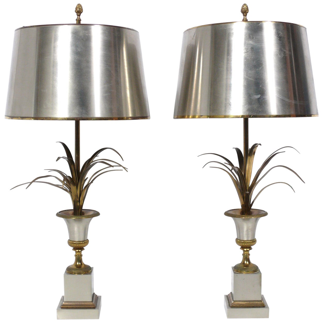 Pair of Maison Charles Signed Lamps