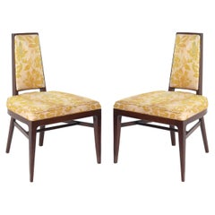 Pair of Low Slung Mid Century Slipper Lounge Chairs