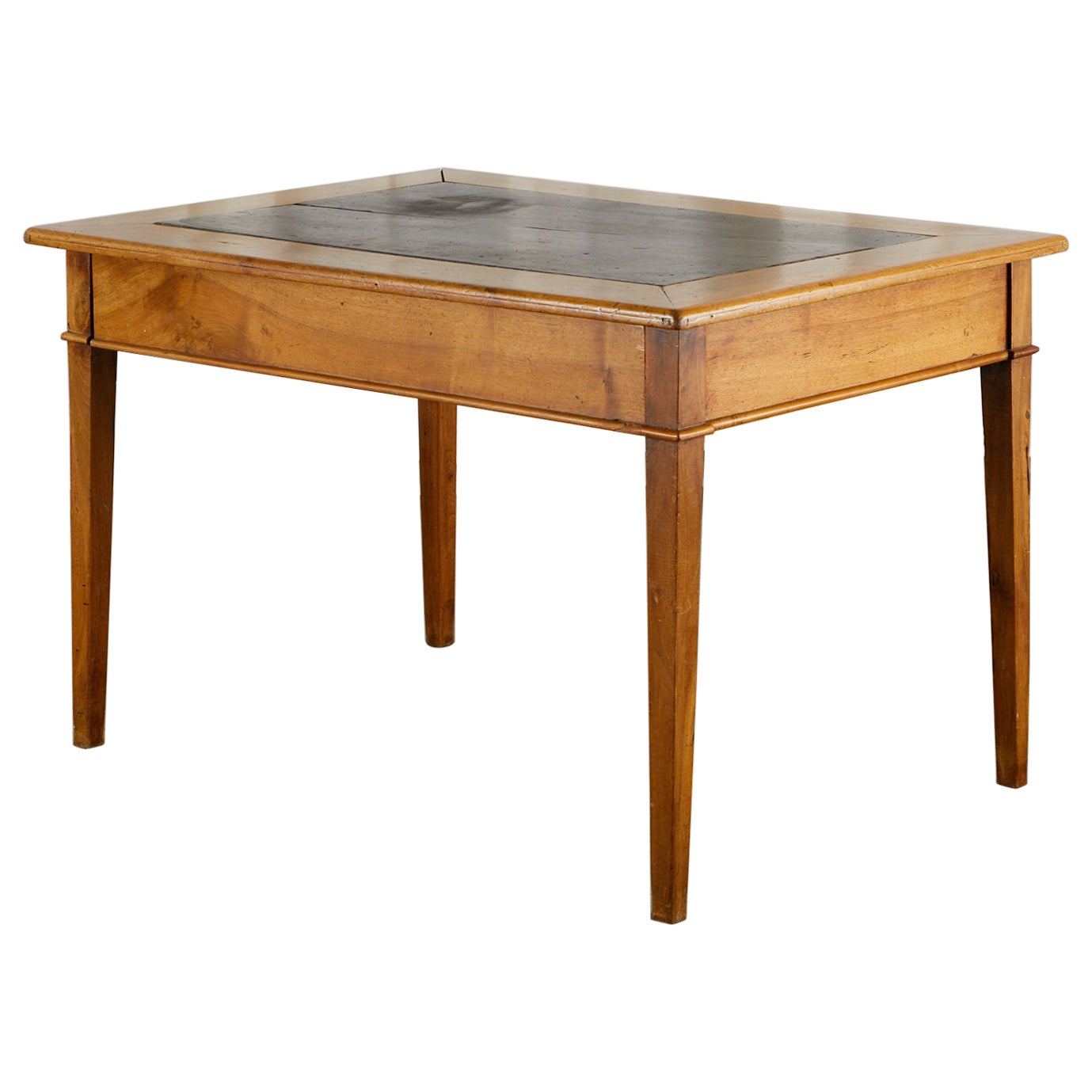 19th Century French Provincial Slate Top Writing Table Desk