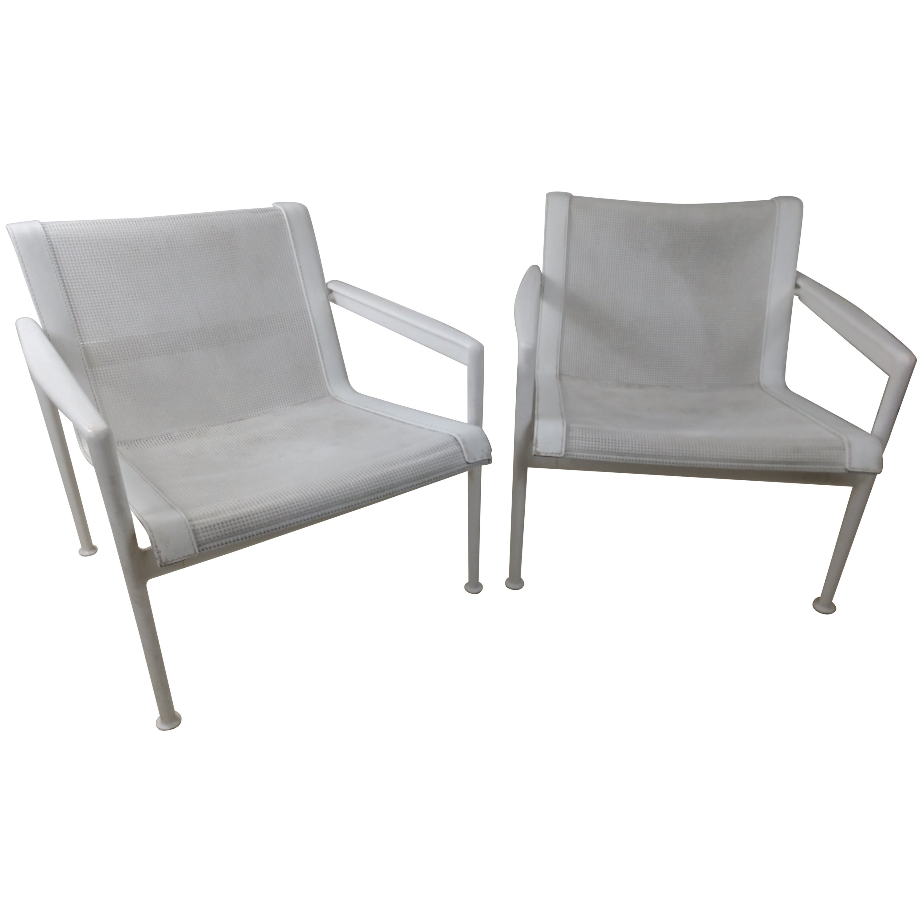 Pair of Richard Schultz Outdoor Lounge Chairs for Knoll