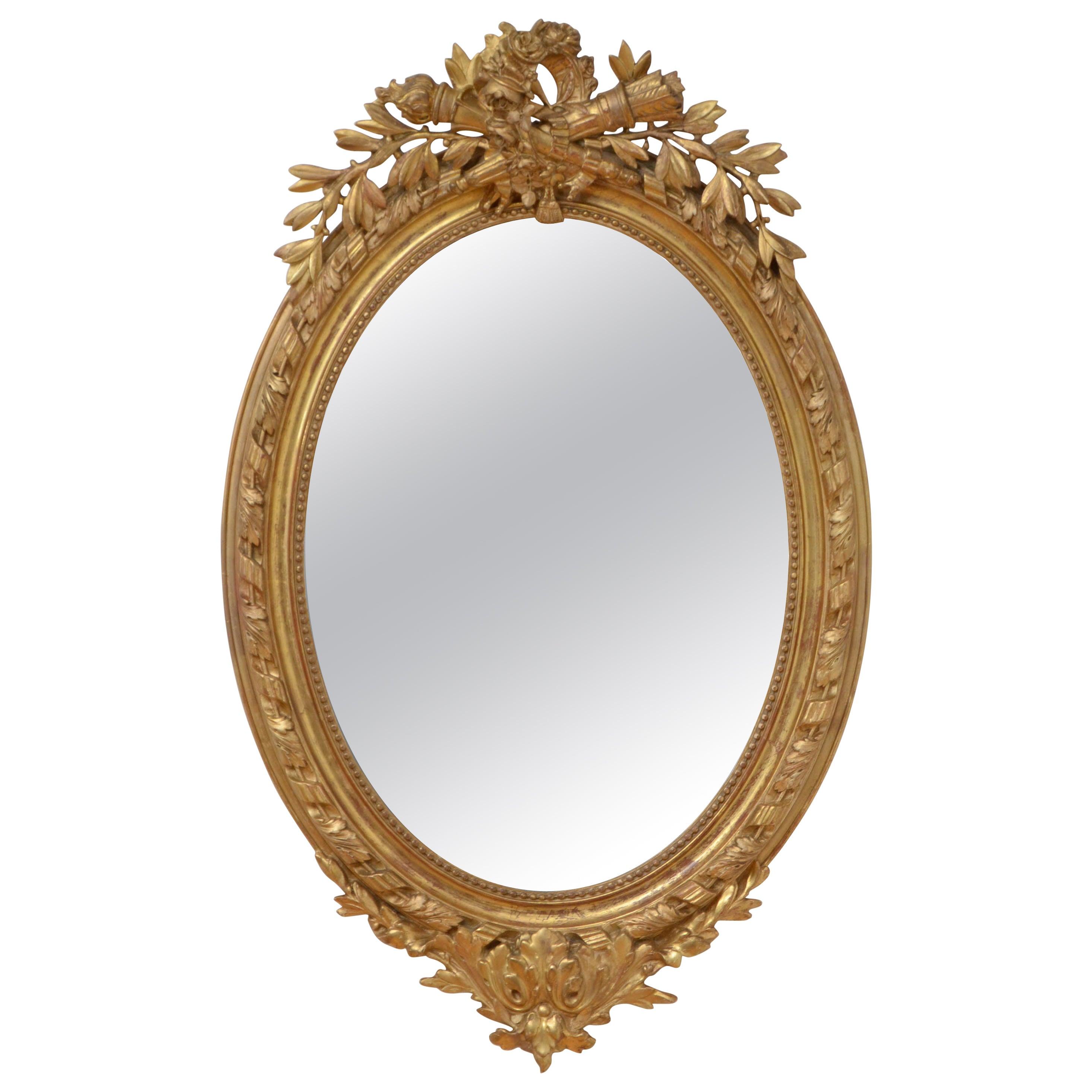 19th Century French Gilt Wall Mirror