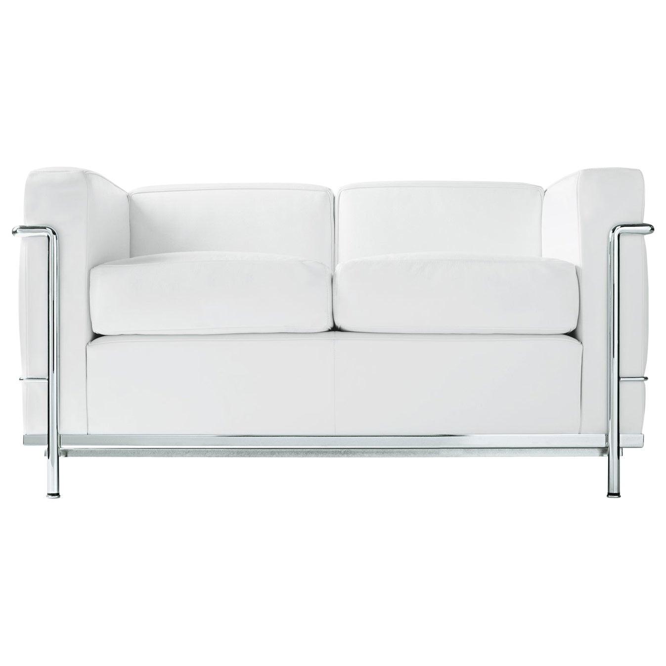 Le Corbusier, Pierre Jeanneret, Charlotte Perriand LC2 Divano Two-Seat Sofa