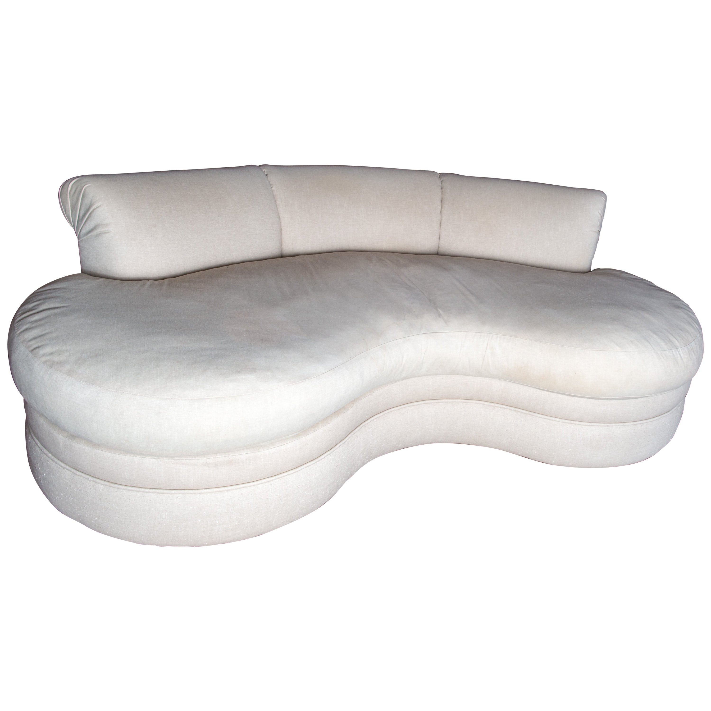 Midcentury Kidney Shaped Sofa