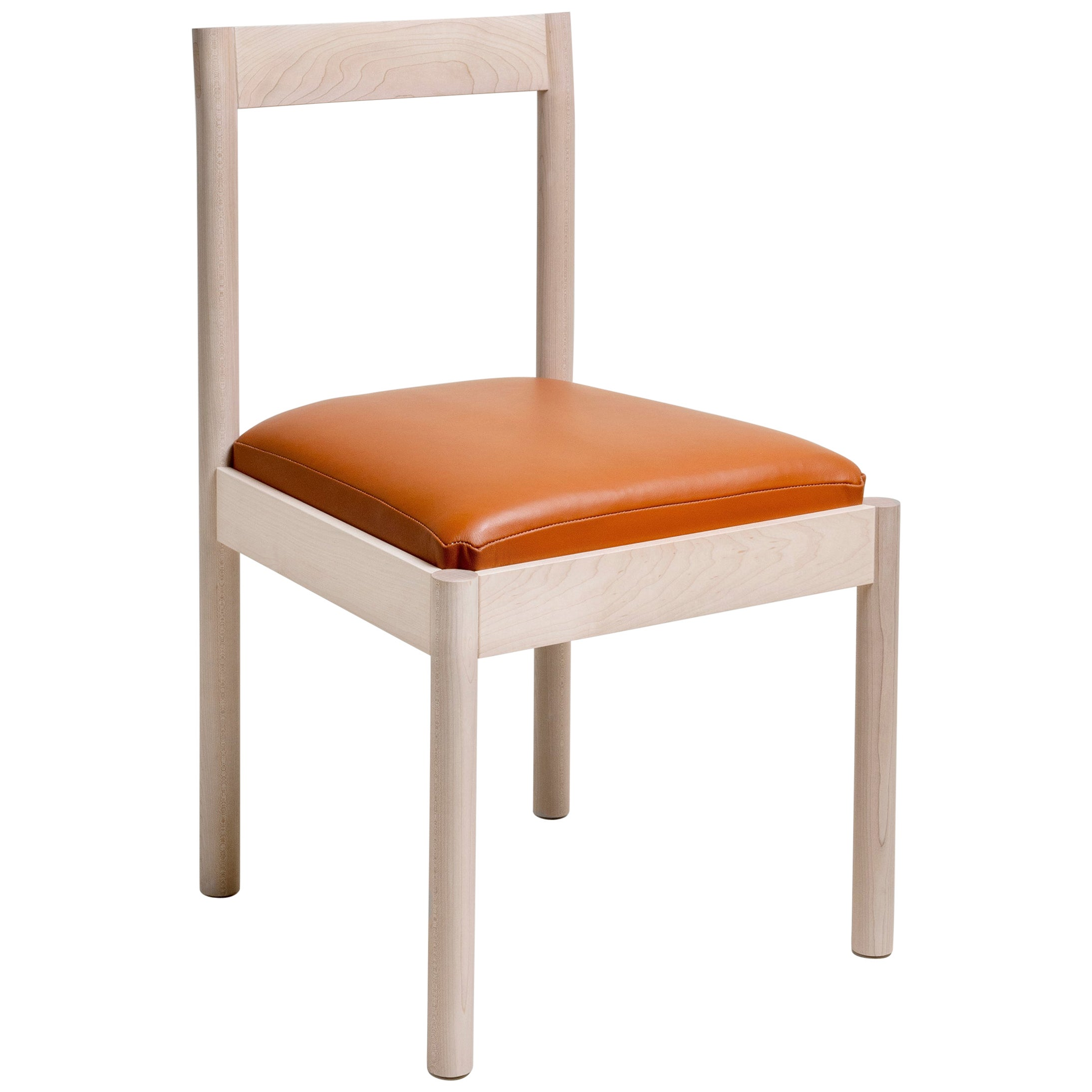 Feast Dining Chair in Solid Maple and Brass by Bowen Liu