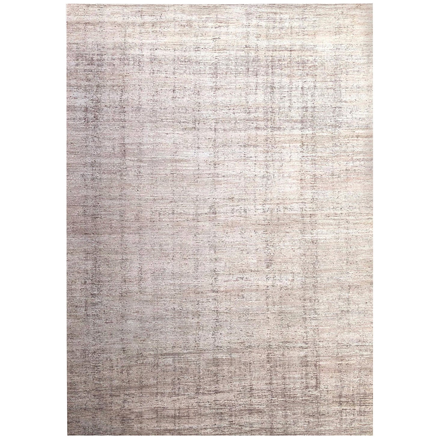 Handmade Modern Rug Gray and Beige Plain by Rug & Kilim