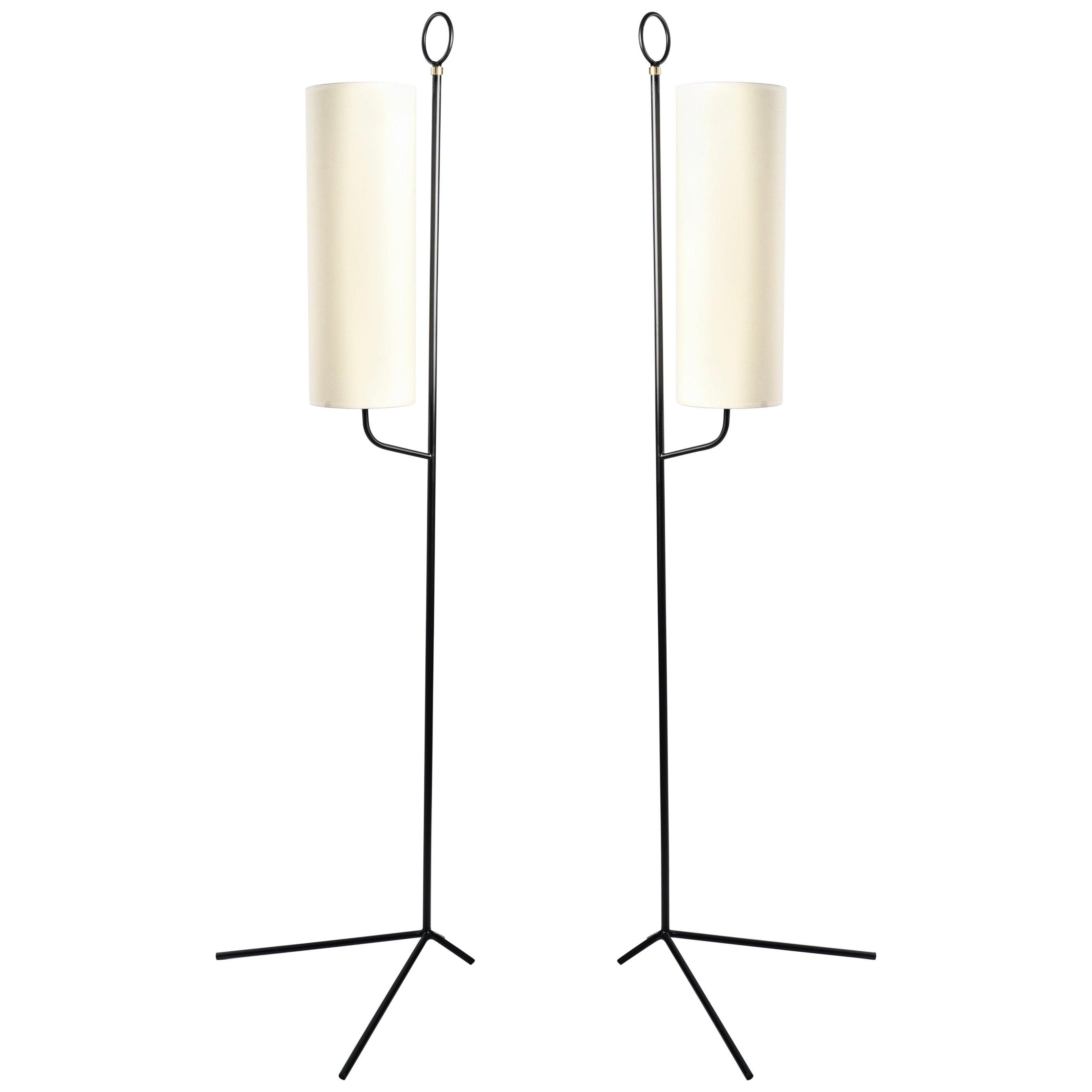 1950 Pair of Maison Lunel floor lamps