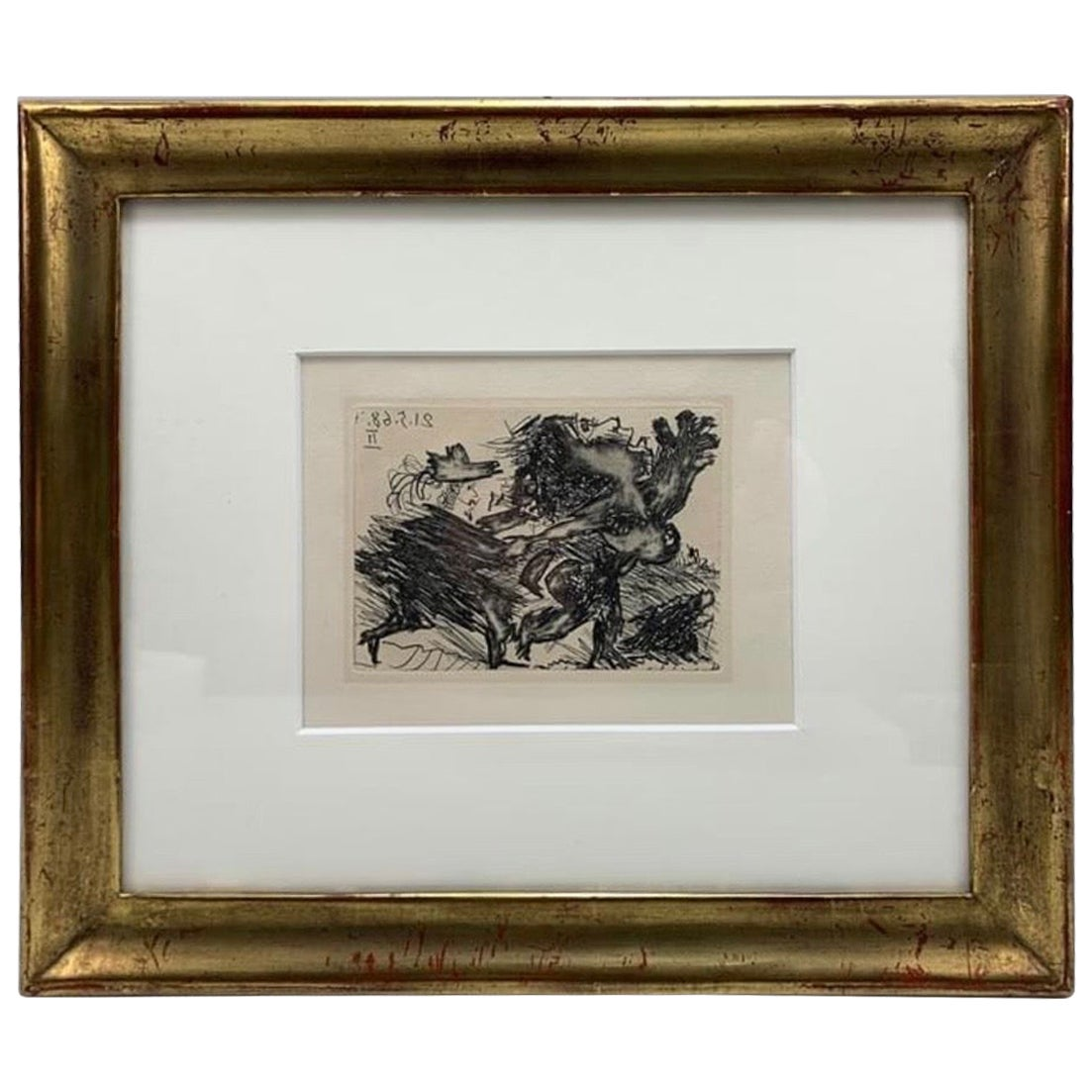 "Original Etching by Pablo Picasso ""La Celestine"", 1968"