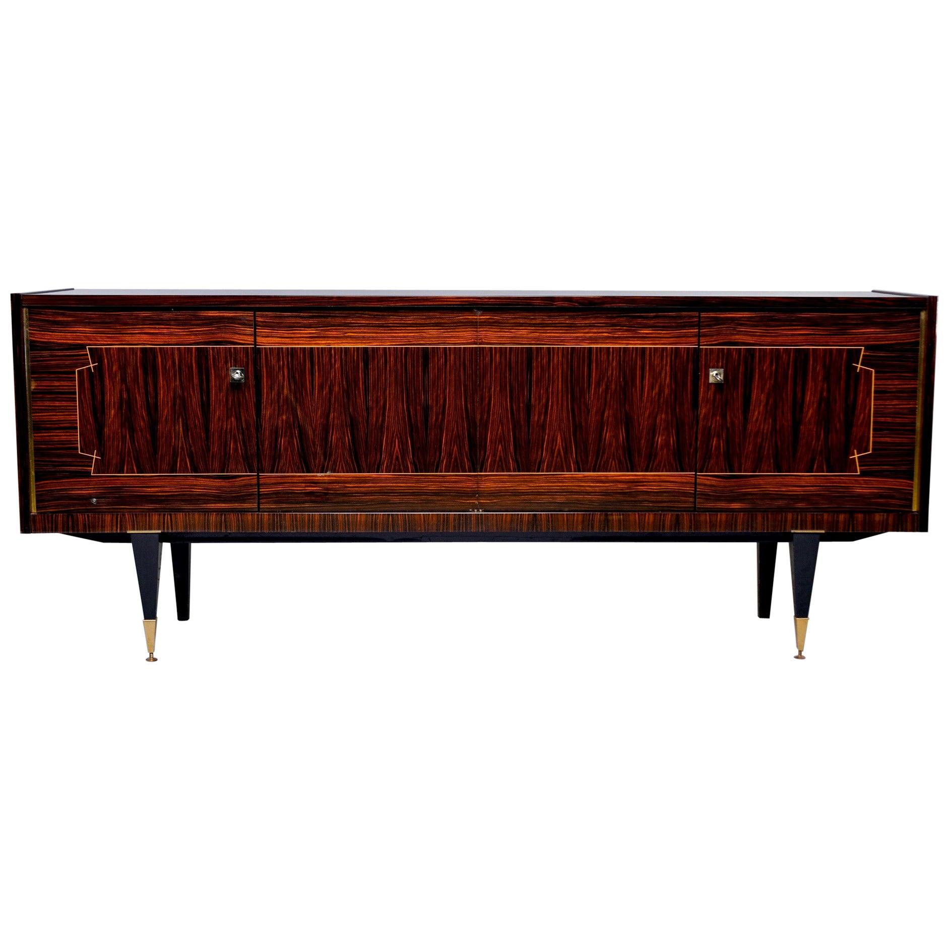 French Art Deco Macassar Buffet or Sideboard